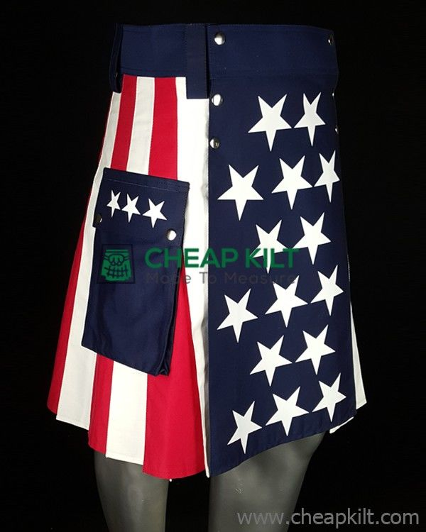 US Flag Fashion Kilt for Active Men