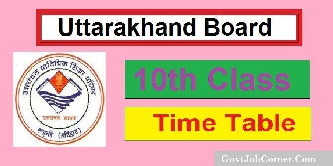 Uttarakhand Board 10th Time Table 2019, UK 10th Date Sheet 2019