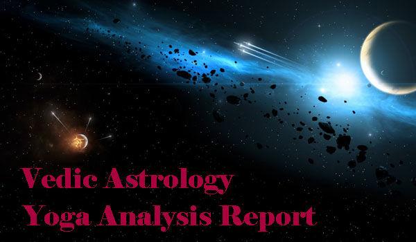 Vedic Astrology Yoga Analysis Report - Horoscope / Birth Chart Analysis