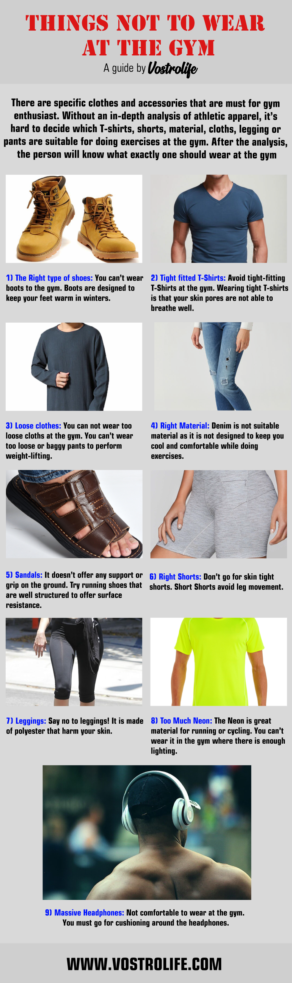9 Things You Should Never Wear To The Gym - Vostrolife