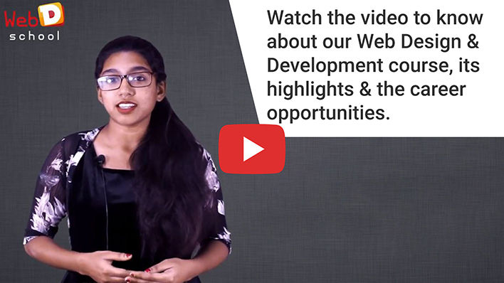Web designing training in Chennai | Web development course