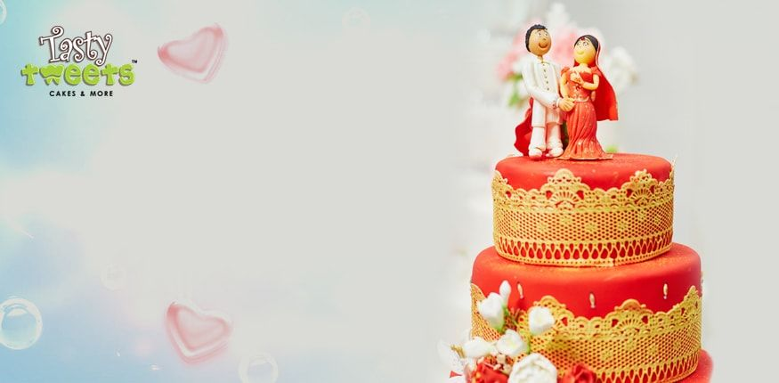 Wedding Cakes @ Tasty Tweets | Order Wedding Cakes in Gurgaon