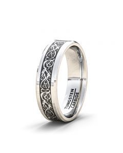 Celtic Dragon Tungsten Carbide Rings For Him   American Tungsten