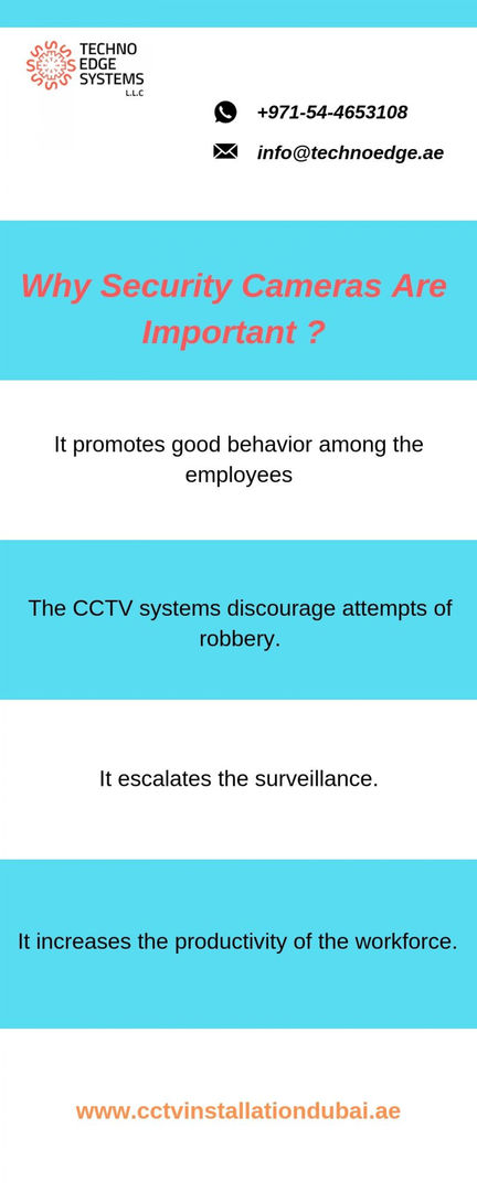 Why Security Cameras Are Important ? | Visual.ly