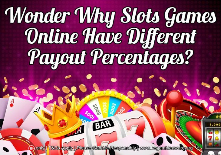 Wonder Why Slots Games Online Have Different Payout Percentages?