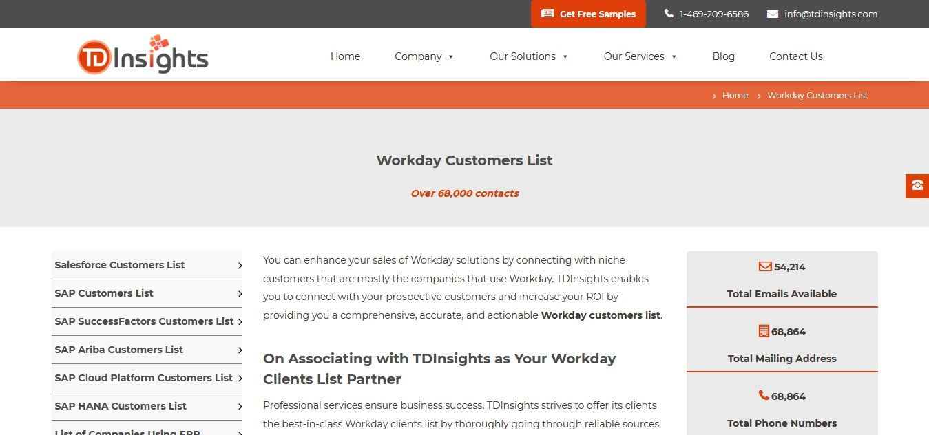 Workday Customers List