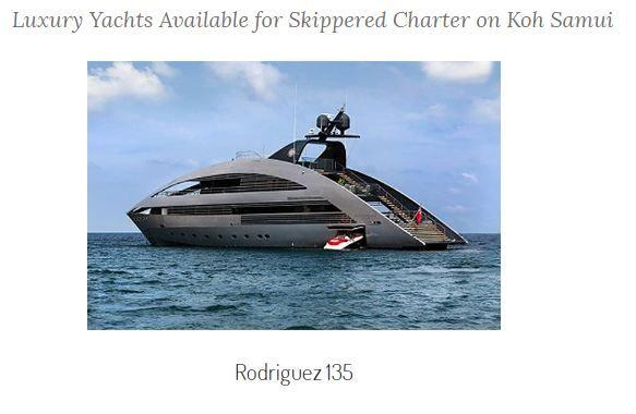 Yacht rental koh samui