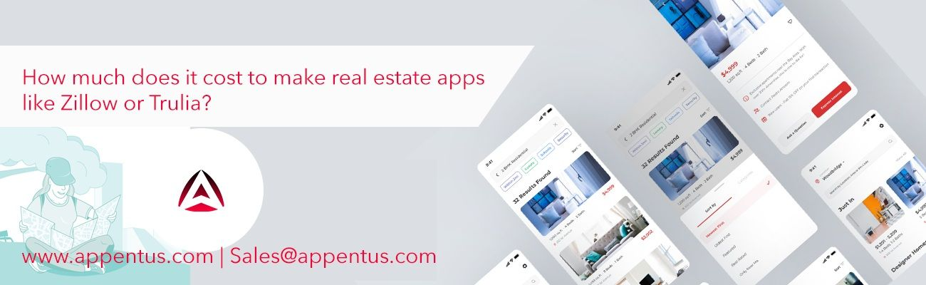 Cost to make Real Estate Apps like Zillow or Trulia