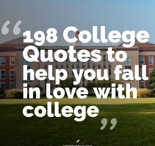 198 College Quotes to help you fall in love with college