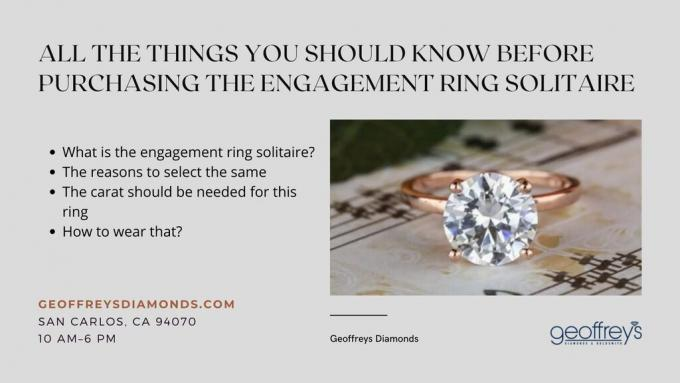 All the things you should know before purchasing the engagement ring solitaire