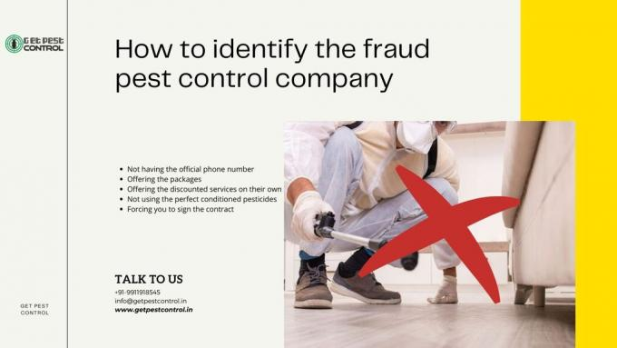 How to identify the fraud pest control company
