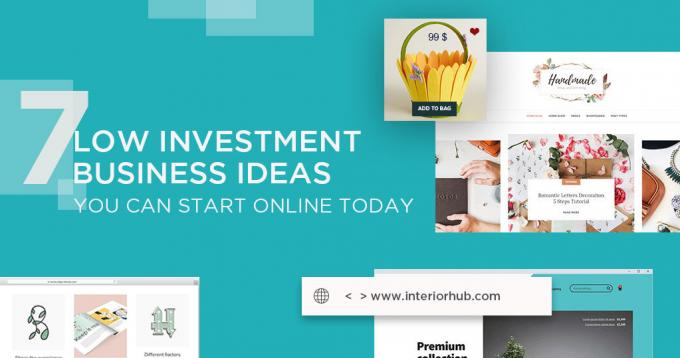 7 Low Investment Business Ideas you can Start Online Today