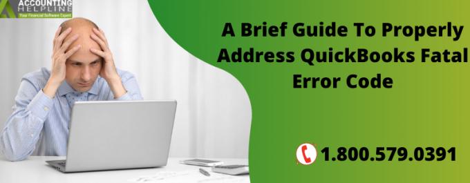 QuickBooks Fatal Error Code