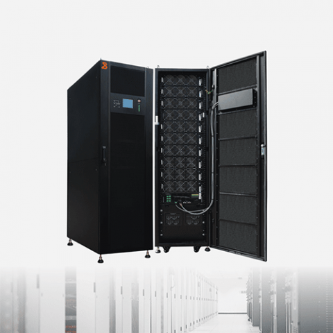 BAYKEE 100kva modular UPS power supply system operated in the information room