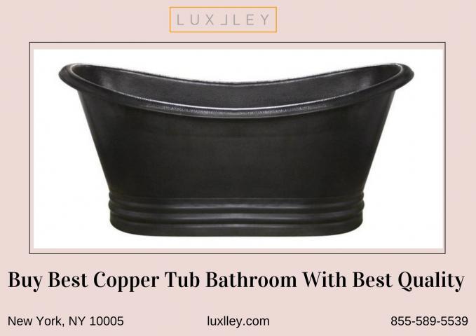 copper tub bathroom