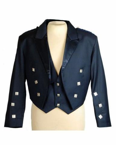 Prince Charlie Jacket Kilt | Blue Jacket