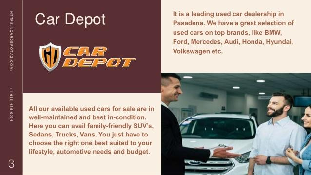 Contact Reputed Dealers to Buy Used Car Available for Sale in Pasadena