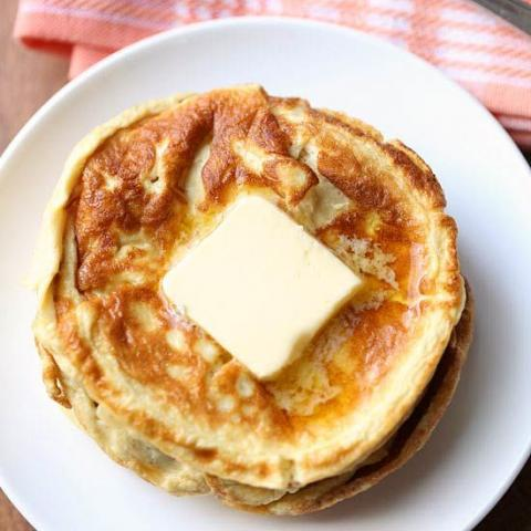 Easy Keto Low Carb Cheddar Cheese Pancakes. - Fueldom