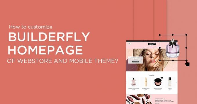 How to Customize Builderfly Homepage of Webstore & Mobile Theme?