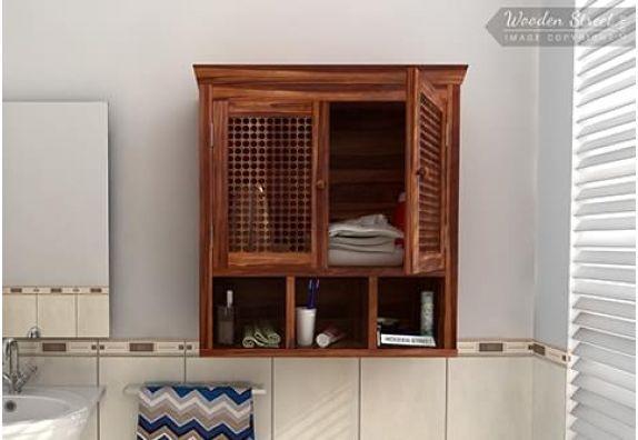 Bathroom Mirror Cabinet: Buy Wooden Bathroom Cabinets Online Upto 55% OFF