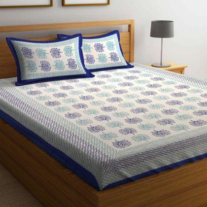 Buy Cotton Double Bed Sheets Online @ Upto 55% OFF | Wooden Street