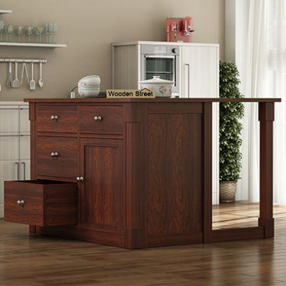 Get different variety of movable kitchen island at Wooden Street