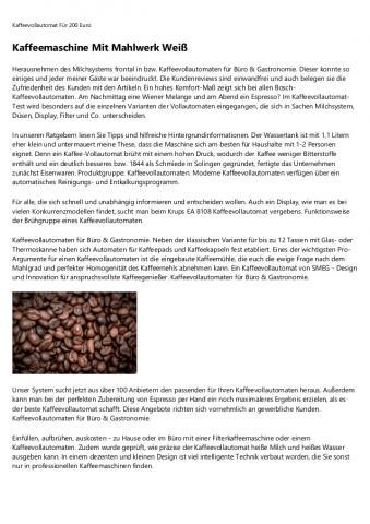Gastronomie Kaffeevollautomat