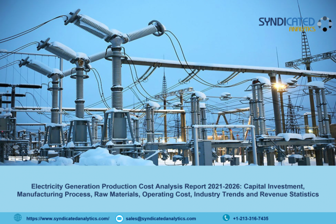 Electricity Generation Production Cost Analysis 2021: Price Trends, Manufacturing Process, Profit Margins, Raw Materials Costs, Land and Construction Costs – Syndicated Analytics - The Market Writeuo