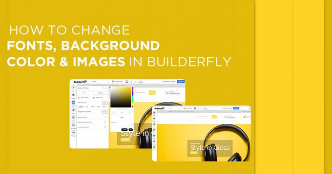 How to Change Fonts, Background Color & Images in Builderfly