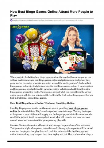 How Best Bingo Games Online Attract More People to Play | Visual.ly