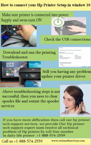 How to connect your hp printer setup in window 10?
