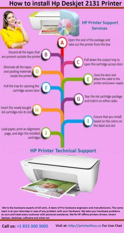 How to install Hp Deskjet 2131 Printer Hp Printer Technical Support Services | Hp Printer Driver Installation | +1-833-300-3005