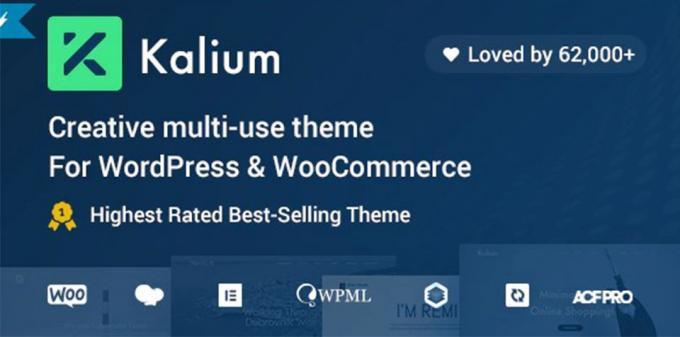 Kalium - Creative wordpress Theme for Professionals