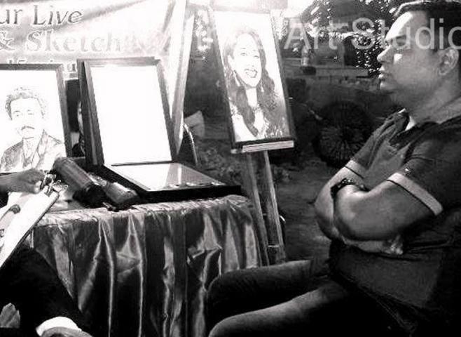 Sketch Artist in Noida,Handmade Portrait from Photograph  +91-9958812195