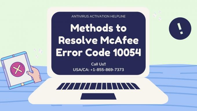 McAfee Error Code 10054