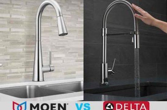 Moen vs. Delta kitchen faucets: A Short Examination