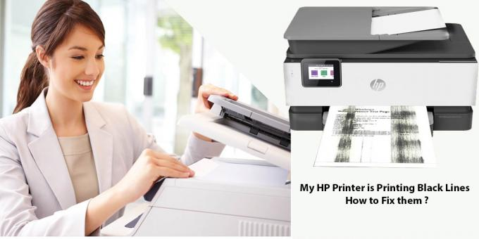 Why My HP Printer is Printing Black Lines problem?