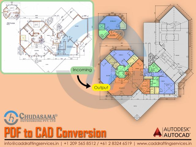Paper, JPG, Sketch and PDF to CAD Conversion Services