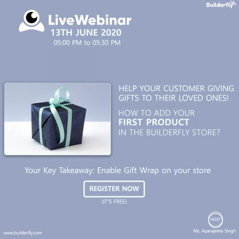 Personalize your store with Builderfly's next webinar - 12 June 2020 - Blog - Personal site