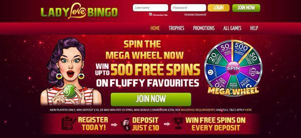 Play Best Deposit Bonus Bingo Sites UK - Lady Love Bingo