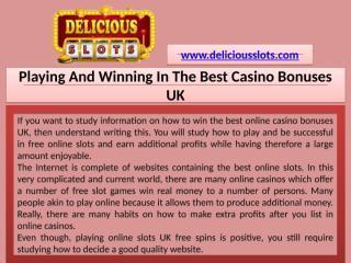 Playing And Winning In The Best Casino Bonuses UK - Download - 4shared - SUMMAY SANGA