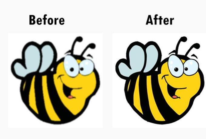 Raster to Vector conversion and clipping path service