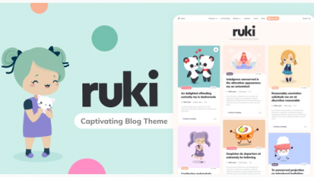 Ruki - A Responsive Captivating Personal Blog Theme by 3FortyMedia | ThemeForest