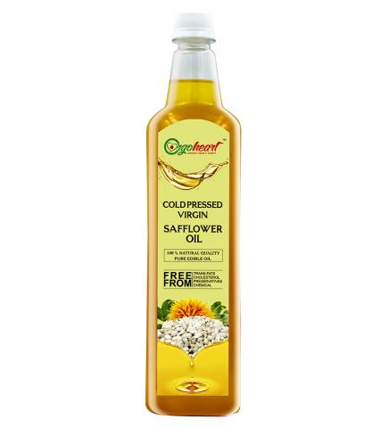 Cold pressed safflower Oil   Buy Online from Orgo Heart