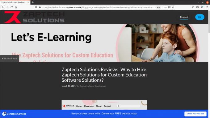 Constant Contract- Why to Hire Zaptech Solutions for Education Software Development?