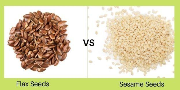 Flax Seeds Vs Sesame Seeds   Organic Products India