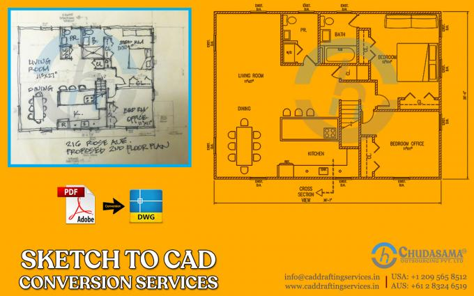Sketch to CAD | PDF to CAD Conversion | CAD Conversion Services - COPL