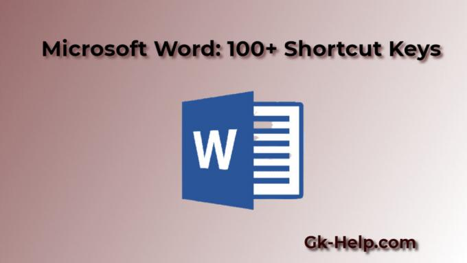 Microsoft Word: 100+ Shortcut Keys That Every Windows User Should Know - GK Help