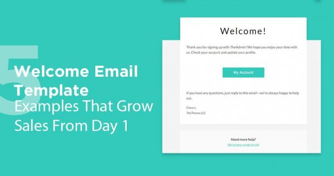 5 Welcome Email Template Examples That Grow Sales From Day 1