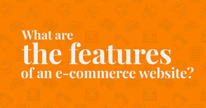 What Are the Features of an E-Commerce Website? – A Guide